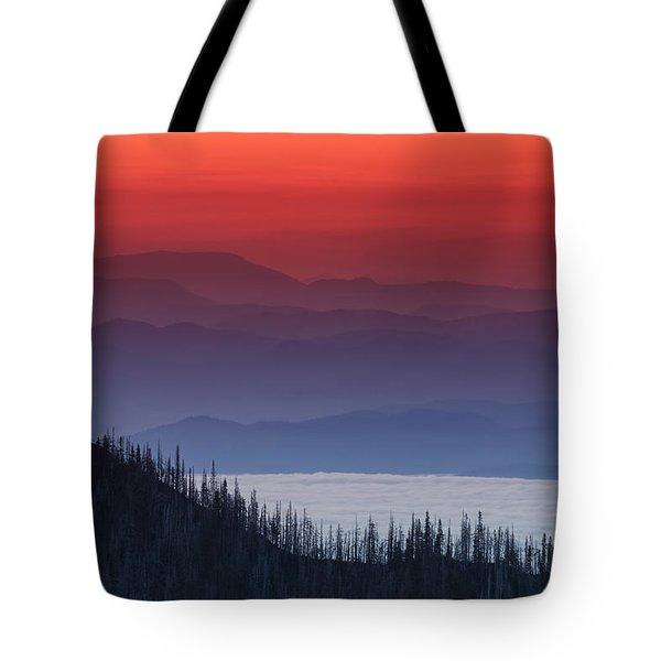 Hurricane Ridge Sunset Tote Bag by Mark Kiver