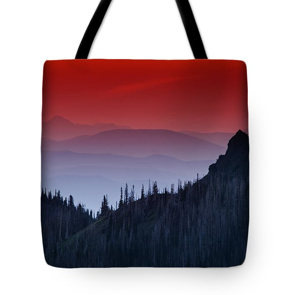 Hurricane Ridge Sunset Vista Tote Bag by Mark Kiver