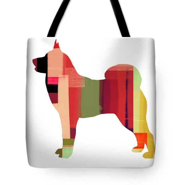 Husky Tote Bag by Naxart Studio