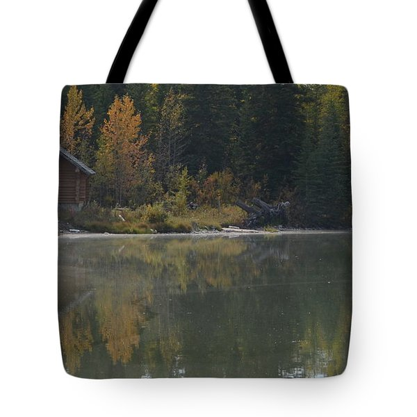 Hut By The Lake Tote Bag