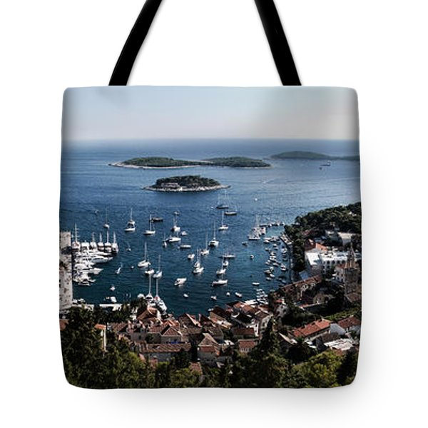 Hvar Harbor From The Fortress Tote Bag