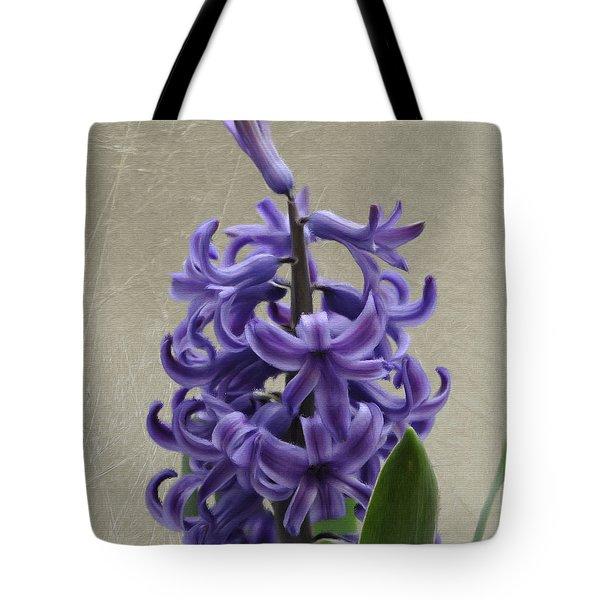 Hyacinth Purple Tote Bag by Jeffrey Kolker