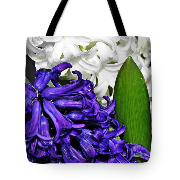 Hyacinths Tote Bag by Sarah Loft