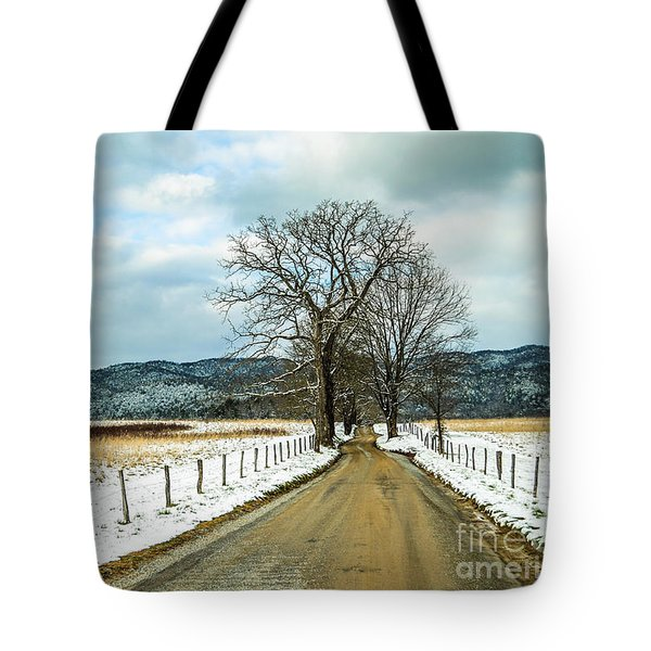 Hyatt Lane In Snow Tote Bag