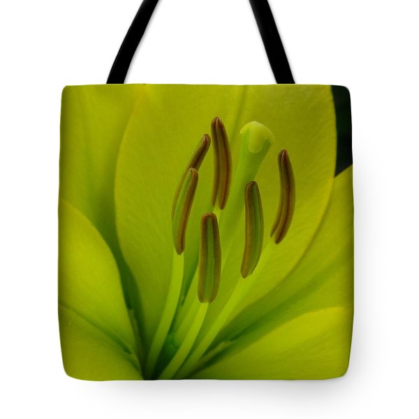 Tote Bag featuring the photograph Hybrid Lily Named Trebbiano by J McCombie