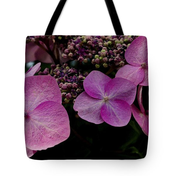 Tote Bag featuring the photograph Hydrangea Flowers  by James C Thomas