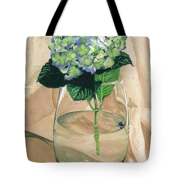 Hydrangea Blossom Tote Bag by Barbara Jewell