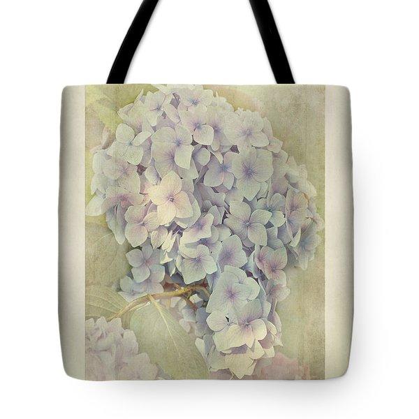 Hydrangea Macrophylla Blue Bonnet Tote Bag by John Edwards