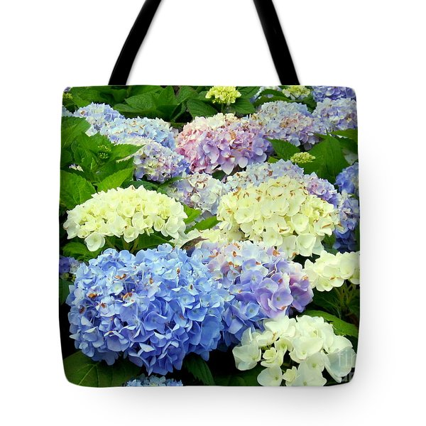 Hydrangea Mix Tote Bag by Margaret Newcomb