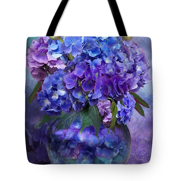 Hydrangeas In Hydrangea Vase Tote Bag