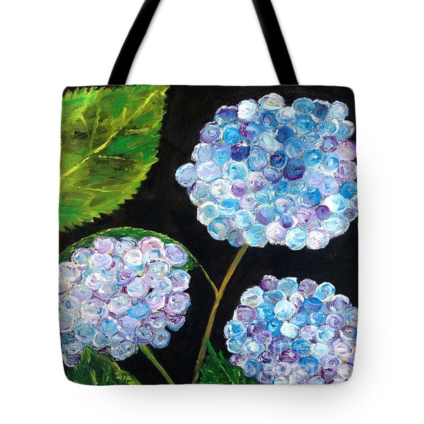 Tote Bag featuring the painting Hydrangeas  by Reina Resto