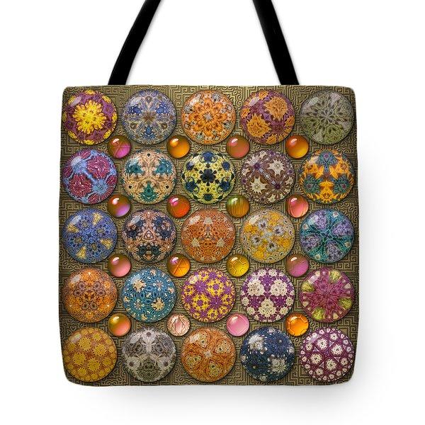 Hyperbolicrochet Kaleidoscope Quilt Tote Bag