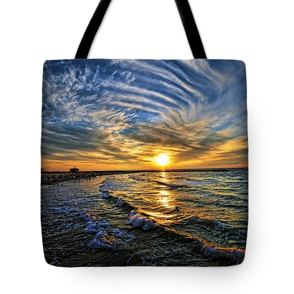 Hypnotic Sunset At Israel Tote Bag