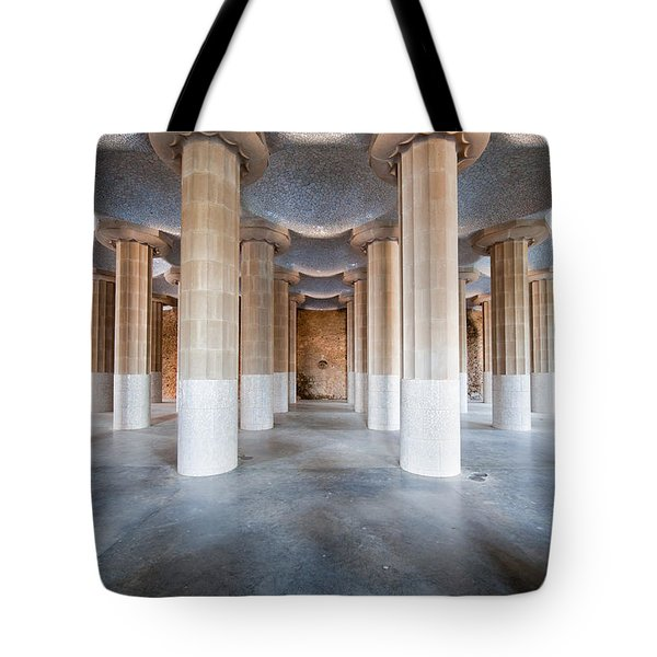 Hypostyle Room In Park Guell Tote Bag