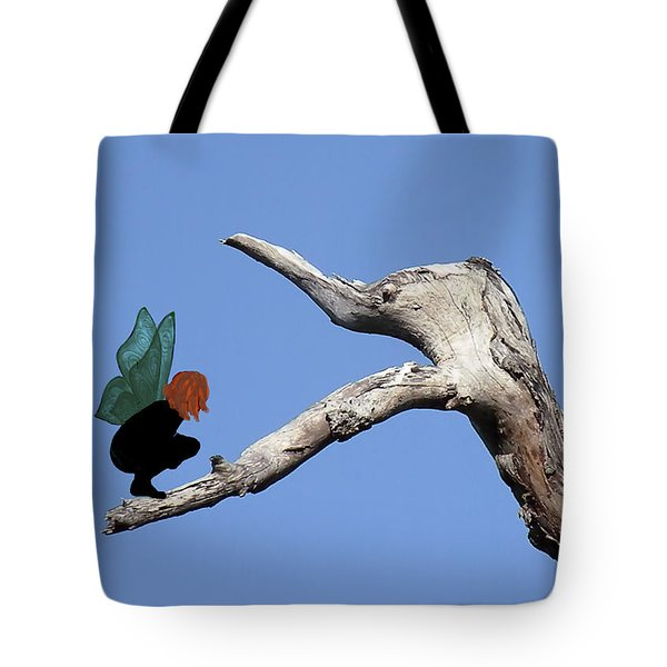 Tote Bag featuring the photograph I Almost Ate A Fairy by Rosalie Scanlon