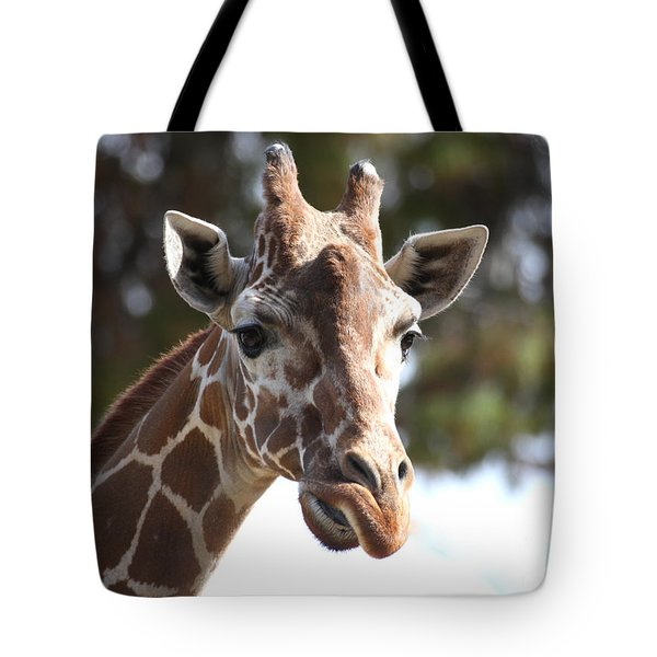 Tote Bag featuring the photograph I Am A Giraffe by Ruth Jolly