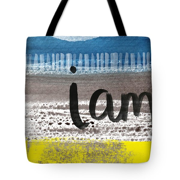 I Am- Abstract Painting Tote Bag by Linda Woods