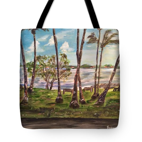 Tote Bag featuring the painting I Am Always With You by Belinda Low