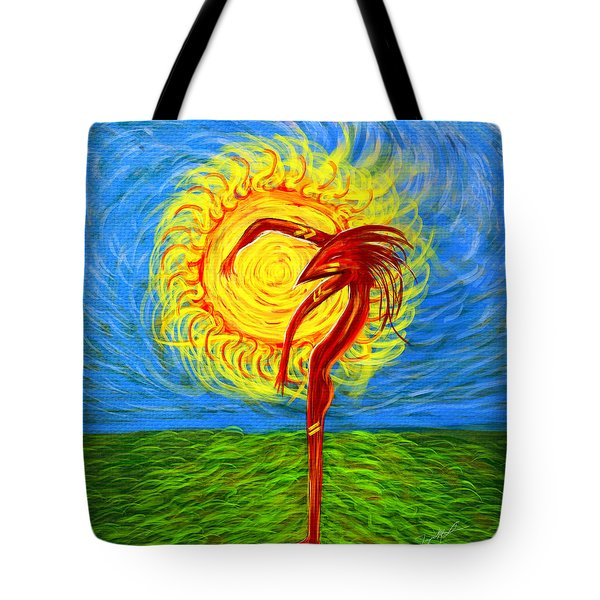 Tote Bag featuring the digital art I Am Ra by Jeremy Martinson