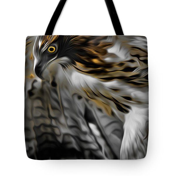 I Am Redtail Square Tote Bag by Bill Wakeley
