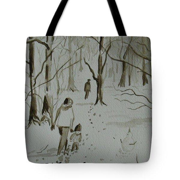 I Am Rich - Monochrome-snow Scene Tote Bag