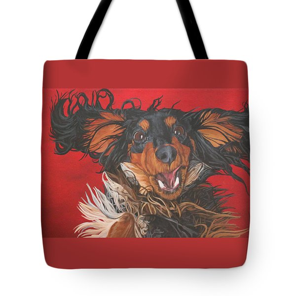 I Am Sooooooo Happy To See You Tote Bag by Wendy Shoults