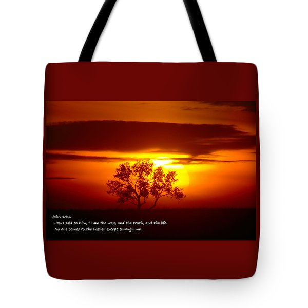I Am The Way John 14-6 Tote Bag by Jeff Swan