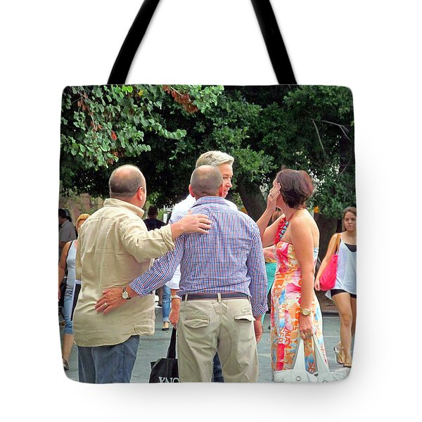 I'm Tired Of Walking Let's Sit Down Tote Bag by Tina M Wenger