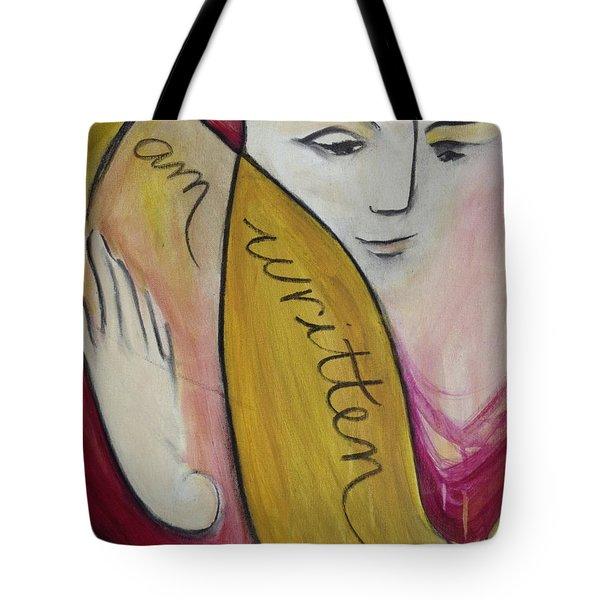 I Am Written Tote Bag