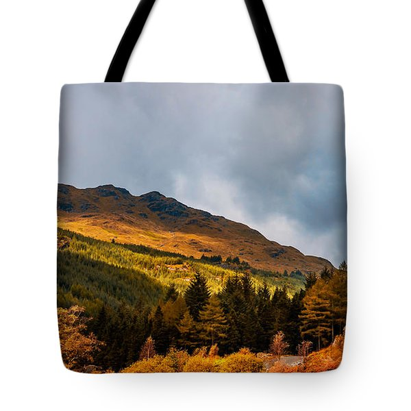 I Cant Forget This Light. Scotland Tote Bag by Jenny Rainbow