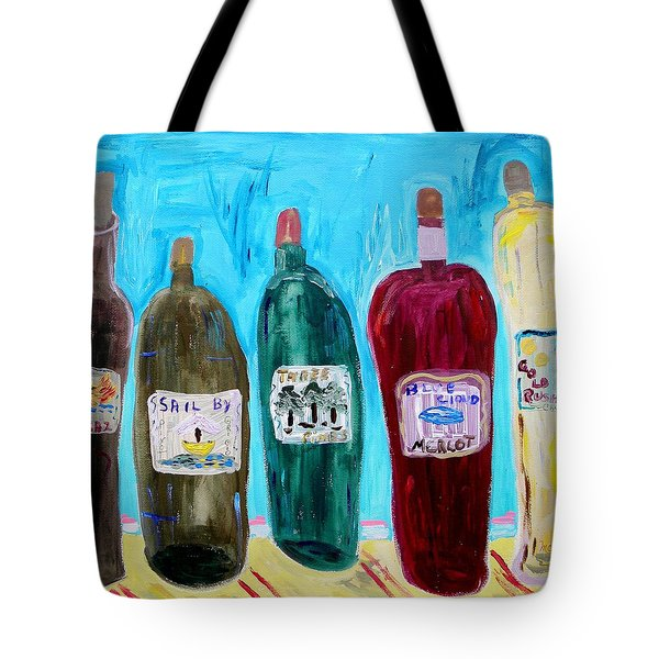 I Choose Wine By The Label Tote Bag