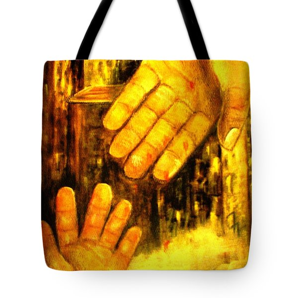 Tote Bag featuring the painting I Chose You by Hazel Holland