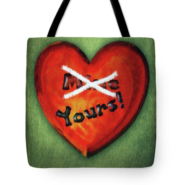 Tote Bag featuring the painting I Gave You My Heart by Jeffrey Kolker