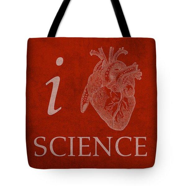I Heart Science Humor Poster Tote Bag