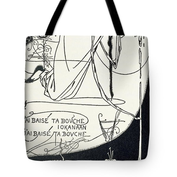 I Kissed Your Mouth Tote Bag by Aubrey Beardsley