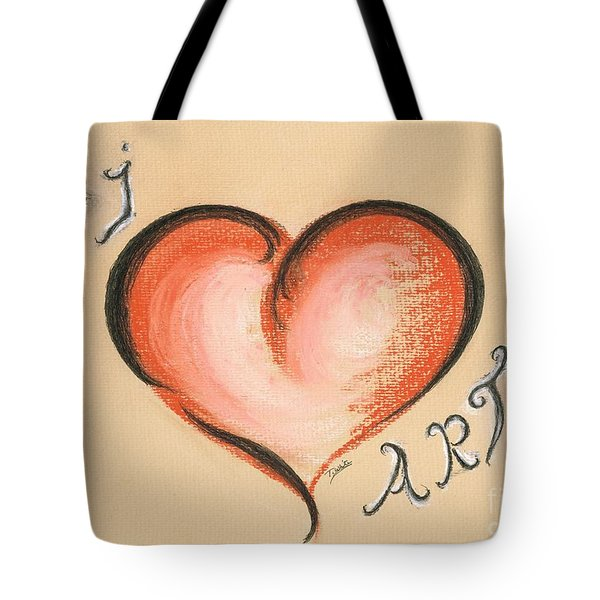 I Love Art Tote Bag