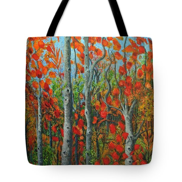 I Love Fall Tote Bag by Holly Carmichael