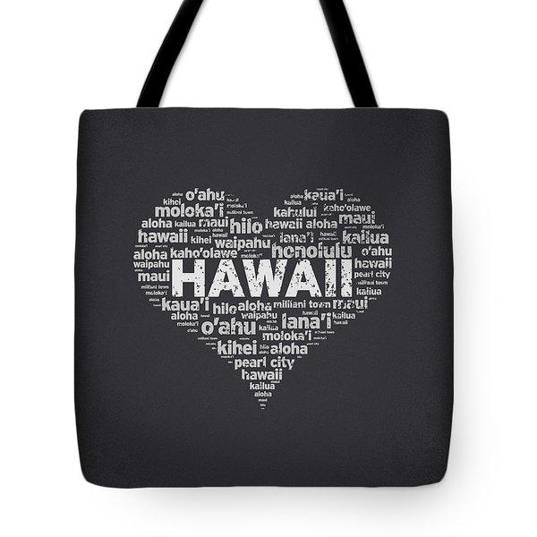 I Love Hawaii Tote Bag