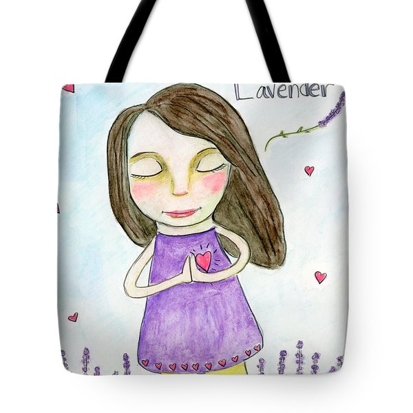 I Love Lavender Tote Bag