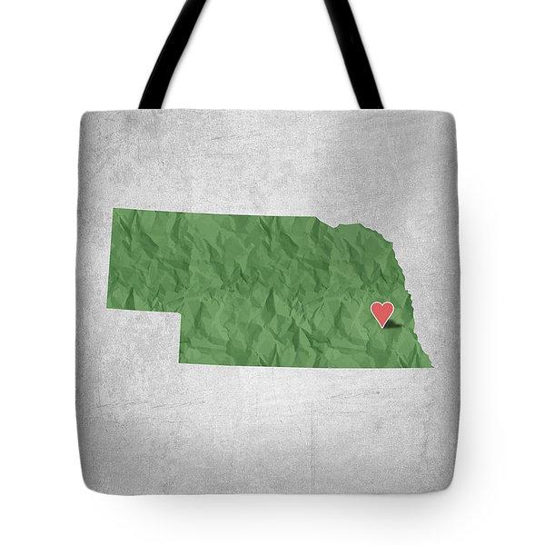I Love Lincoln Nebraska - Green Tote Bag