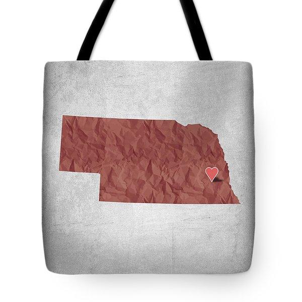 I Love Lincoln Nebraska - Red Tote Bag