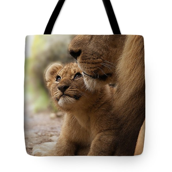 I Love My Daddy Tote Bag by Christine Sponchia