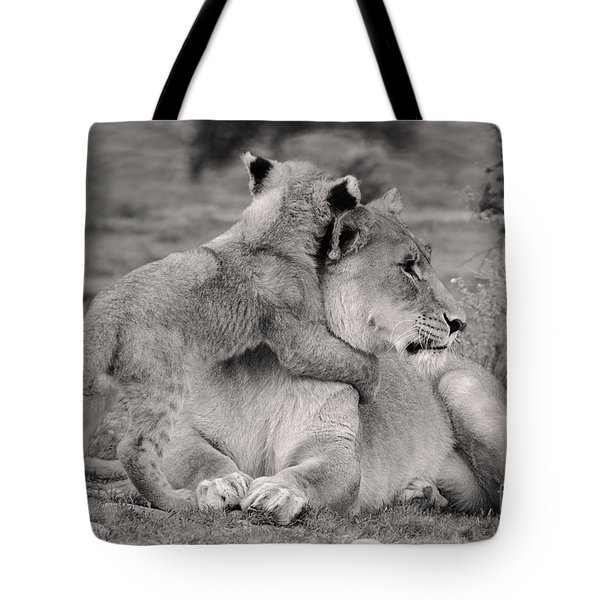 I Love My Momi Tote Bag by Christine Sponchia
