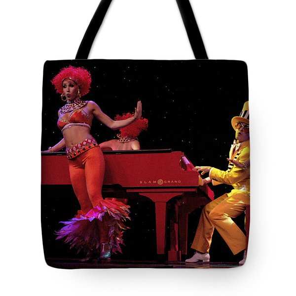I Love Rock And Roll Music Tote Bag by Bob Christopher