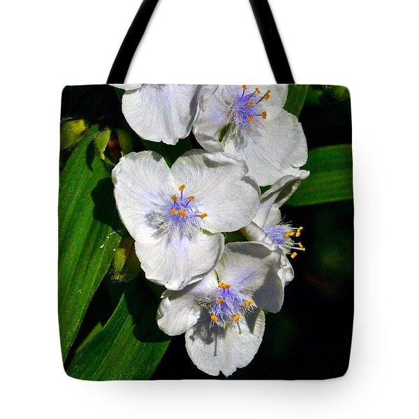 I Love Spiderworts  Tote Bag