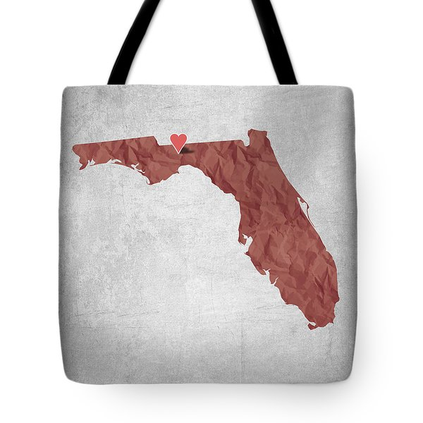 I Love Tallahassee Florida - Red Tote Bag