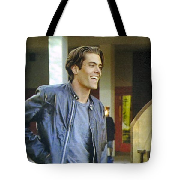 Tote Bag featuring the painting I Love You Babe by Luis Ludzska