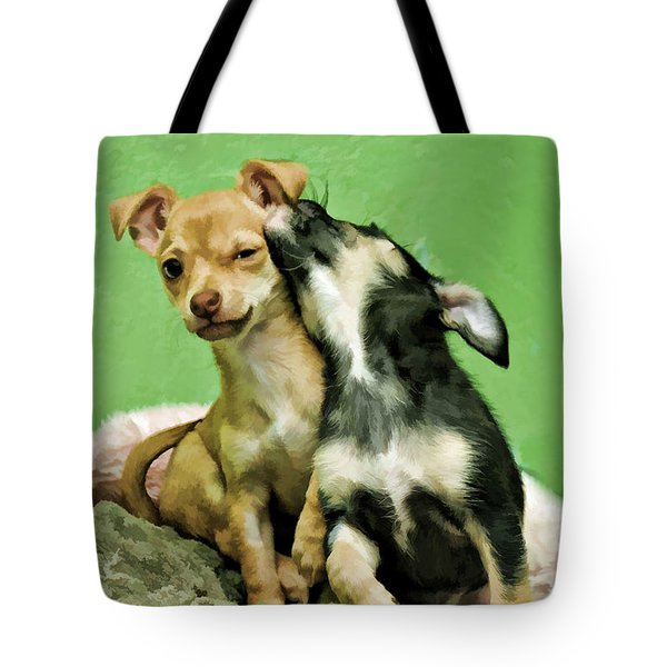 Tote Bag featuring the photograph I Love You Bro by Kenny Francis