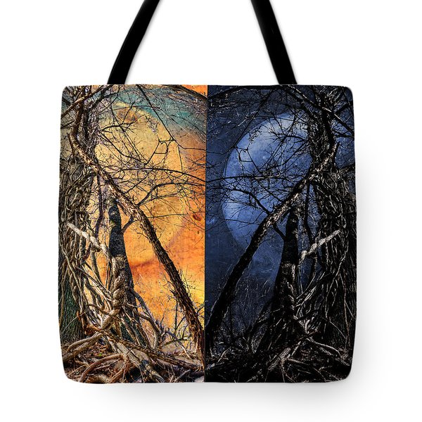 I Love You Day And Night Tote Bag by Rick Mosher