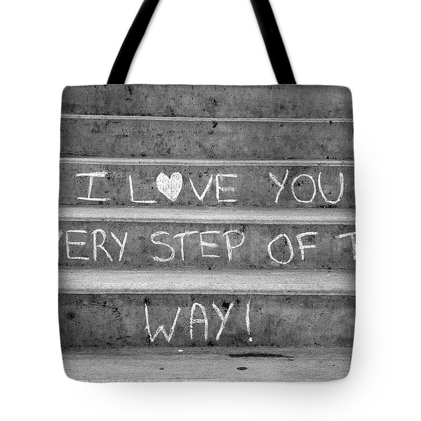 I Love You Every Step Of The Way Tote Bag